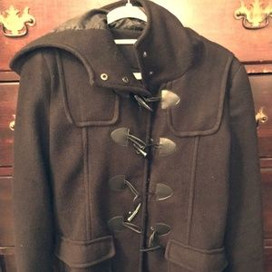 Black toggle button jacket
